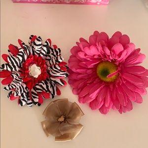 Set of 3 Flower Hair Clips